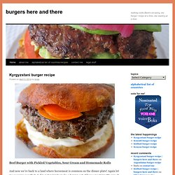 burgers here and there | making exotic flavors un-scary, one burger recipe at a time, one country at a time