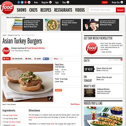 Asian Turkey Burgers Recipe : Food Network Kitchens