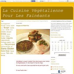 Burgers de Petits Pois - La Cuisine Végétalienne Pour Les Fainéants