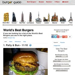 Best Burgers in the World - The Burger Guide