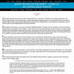 Burgon Excerpt - Luke 11