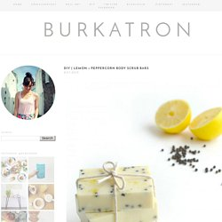 lemon + peppercorn body scrub bars