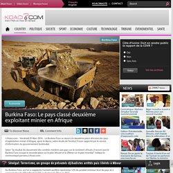 Burkina Faso: Le pays classé deuxième exploitant minier en Afrique
