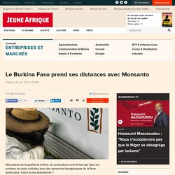Le Burkina Faso prend ses distances avec Monsanto