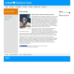 UNICEF Burkina Faso - Education - Issue overview