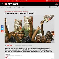 Burkina Faso : 20 dates à retenir