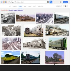 burlington bilevel cars steam