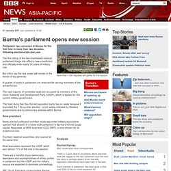 Burma's parliament opens new session