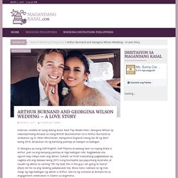 Arthur Burnand and Georgina Wilson Wedding – A Love Story