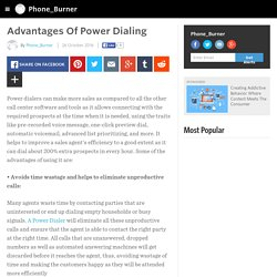 Advantages Of Power Dialing
