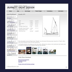 Burnett Yacht Design - Custom cruising yacht design and consultancy