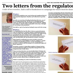 Opt in versus opt out. Two letters from the regulator.