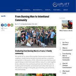 From Burning Man to Intentional Community
