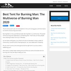 Best Tent for Burning Man: The Multiverse of Burning Man 2020 - CampGrasp
