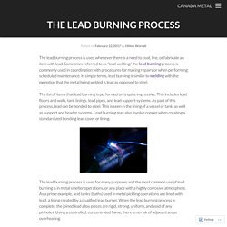 The Lead Burning Process