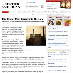 The End of Coal Burning in the U.S.
