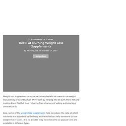 Best Fat-Burning Weight Loss Supplements