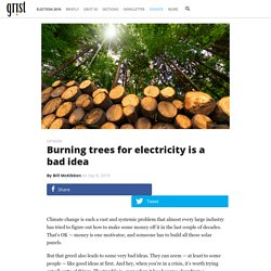 Burning trees for electricity is a bad idea