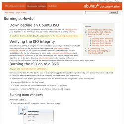 Ubuntu BurningIsoHowto