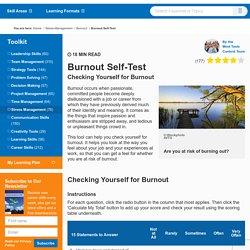 Burnout Self-Test