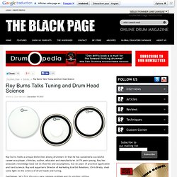Roy Burns Talks Tuning and Drum Head Science - Articles - The Black Page