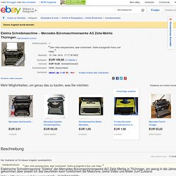 Elektra Schreibmaschine ~ Mercedes Büromaschinenwerke AG Zella-Mehlis Thüringen