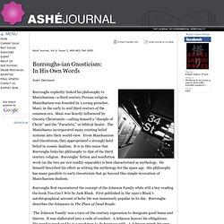 Ashé Journal: Burroughs-ian Gnosticism, Sven Davisson