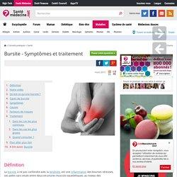 Bursite - Symptômes et traitement