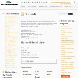 Burundi Email Lists