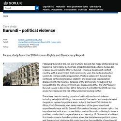 Burundi – political violence - Case study