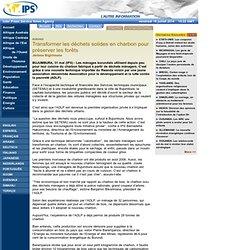 IPS - Transformer les déchets solides en charbon