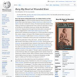 Bury My Heart at Wounded Knee - Wikipedia