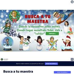 Plantilla Genially reutilizable - Busca a tu maestra by Elena Nubes