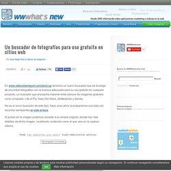 Un buscador de fotografías para uso gratuito en sitios web