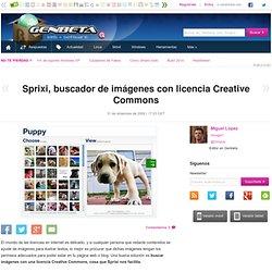 Sprixi, buscador de imágenes con licencia Creative Commons