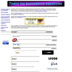 Todos los buscadores españoles en una sola página.