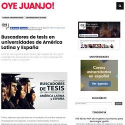Buscadores de tesis en universidades de América Latina y España