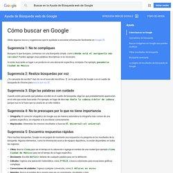 Cómo buscar en Google - Ayuda de Búsqueda web de Google