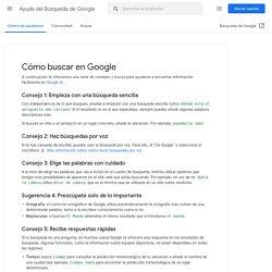 Buscar con Google - Ayuda de Búsqueda web