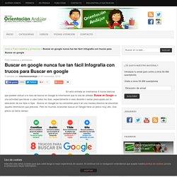 Buscar en google nunca fue tan fácil Infografía con trucos para Buscar en google