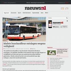 Mafste buschauffeur ontslagen wegens veiligheid