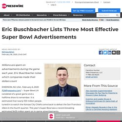 Eric Buschbacher Lists Three Most Effective Super Bowl Advertisements