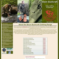 Bison Bushcraft - Boots, Clothing & Outerwear