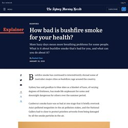 NSW fires: Is bushfire smoke bad for your health?