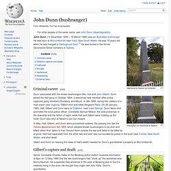 John Dunn (bushranger)
