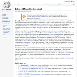 Edward Davis (bushranger)
