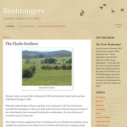 Bushrangers: The Clarke brothers