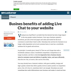 Busines benefits of adding Live Chat to your website