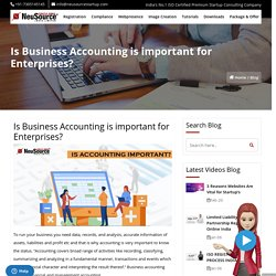 Business Accounting Importance, Accounting Importance in Business
