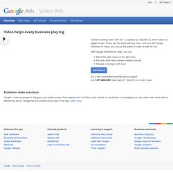 TV Ads - AdWords